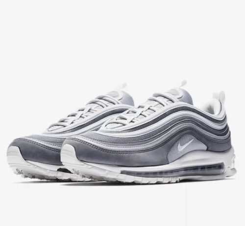 Nike Air Max 97 Premium Wolf Grey White Running Shoe Size 9.5 Style 312834 005