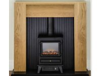 brand new fireplace with electric fire