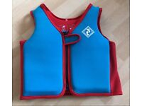 Children's Red & Blue Swimming Vest Age 6-7 years