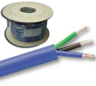 100 Metre Reel Blue Mains Arctic Cable 3 Core  3 x 2.5mm 20A Outdoor 3183AG 100m