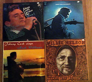 Outlaw country - Johnny Cash and Willie Nelson LPS/records