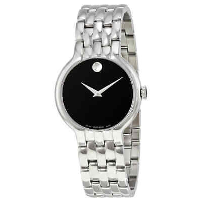 Movado Classic Black Dial Stainless Steel Men's Watch 0606337