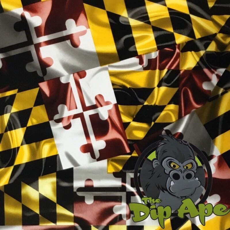 MARYLAND FLAGS HYDROGRAPHIC WATER TRANSFER HYDRO FILM DIP APE