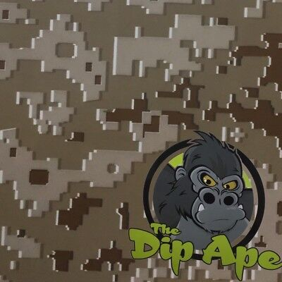 Desert Digital Camo Army Marine Hydrographic Water Transfer Film Hydro Dipping