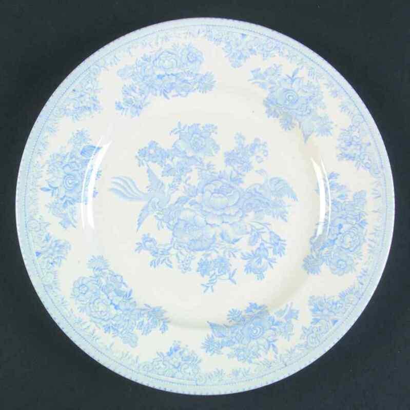 Burgess & Leigh ASIATIC PHEASANTS BLUE Luncheon Plate 42878