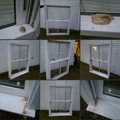 *Used* Lovely Large White UPVC▪SASH WINDOW▪Georgian Cross~Victorian Style~Grubby
