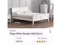 Dreams Pippa King-size white bed frame