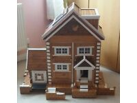Large Handmade Wooden Dolls House