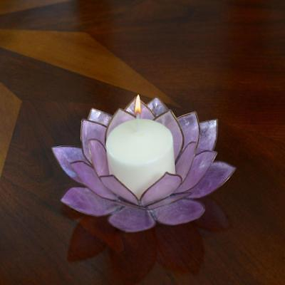 Lotus Flower Candle Holder With Jewel Encrusted Case - Purple](Candle Character)