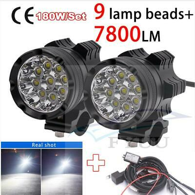 2X9 CREE CHIPS LED MOTORCYCLE HEADLIGHT MOTOS BULB FOG SPOTLIGHT SUPER