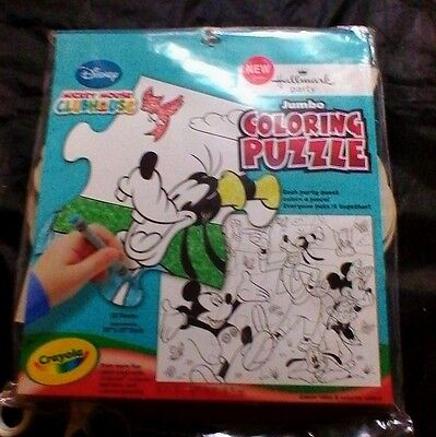 DISNEY COLORING GAME Hallmark CRAYOLA Puzzle BIRTHDAY Party Game MICKEY MOUSE - Mickey Mouse Birthday Games
