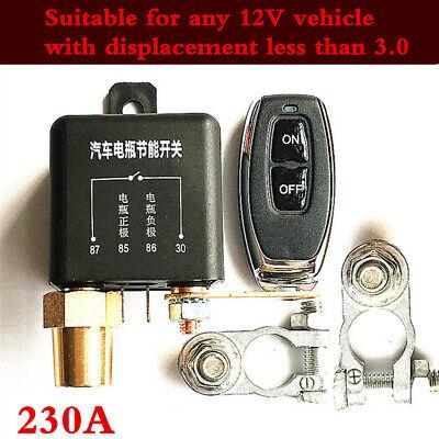 Auto Car Remote Control Battery Switch Disconnect Isolator Master Kill 12V 230A