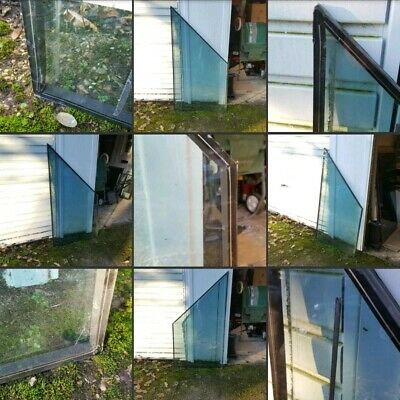 *Used* Lovely Large Odd Shaped Glass▪WINDOW PANE▪2 Available~Shed Garage~Tinted