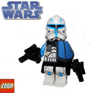 LEGO Star Wars minifigure CAPTAIN REX clone commander with weapons