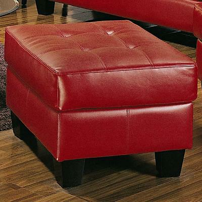 Coaster 501834 - Samuel Contemporary Leather Ottoman - Red