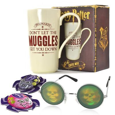 Halloween gift set with Harry Potter Mug, skull glasses and Cadbury Spiders - Halloween Cadbury