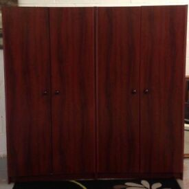 2 x double wardrobe can deliver to most areas