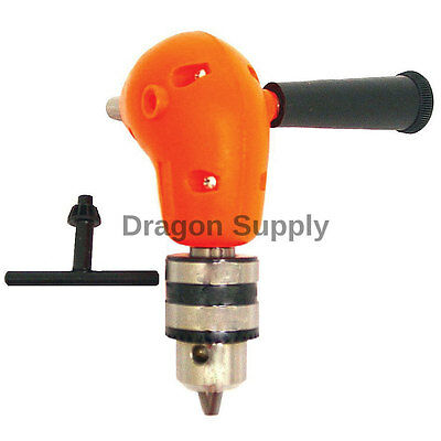 "New Angle Adapter Metal Gear 90 DEGREE Right Angle Drill Attachment 3/8"" Chuck"