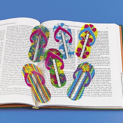 48 FLIP FLOP SANDAL shaped ruler bookmarks Luau Beach Tiki Hawaiian Party Favors