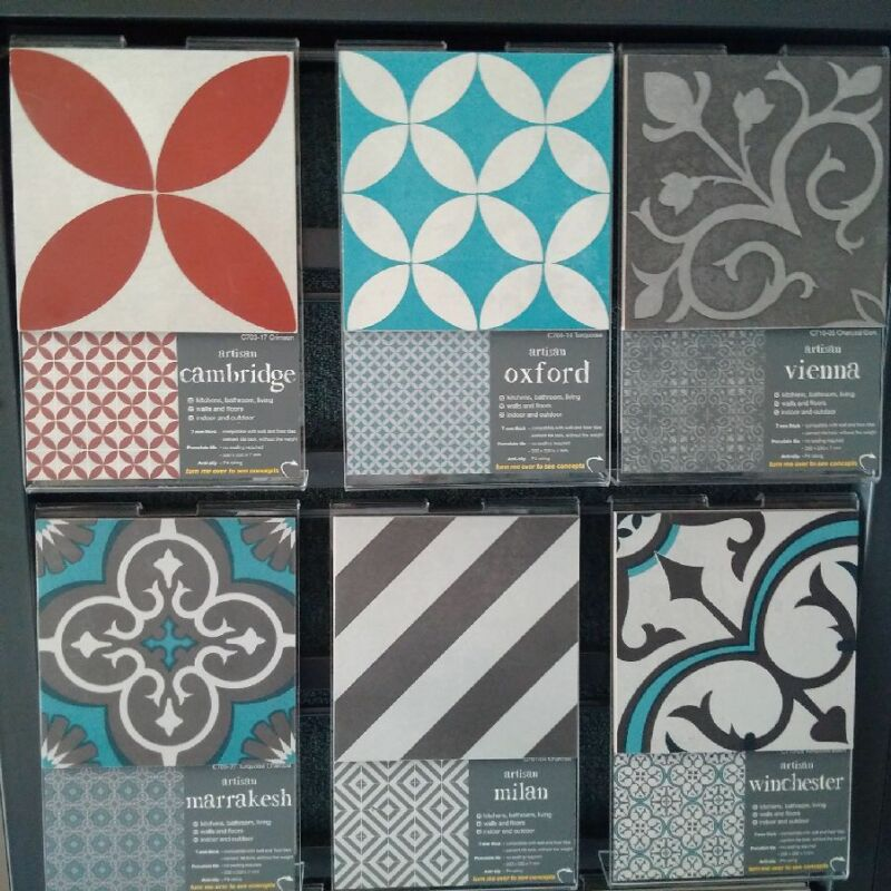 Southern Cross Ceramics Artisan Tiles Series 200x200mm Sells Per M2