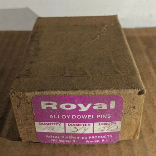 """Pack of 10 - 3/4"""" x 2-1/2"""" Royal Dowel Pins Alloy Steel"""