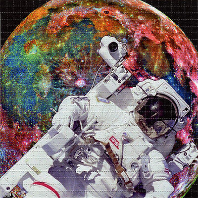 ASTRONAUT  - perforated sheet BLOTTER ART psychedelic LSD acid free paper tabs