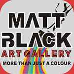 Matt Black Abstract Canvas Painting