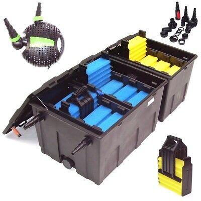 Bio Teichfilter 55B + ECO 4600 Teichpumpe Wasserfilter 3 Kammer Filter 90000 L