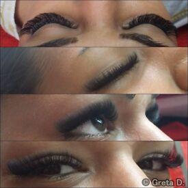 Lashes , eyelash extensions , semi permanent lashes , russian , volume , 6D lashes