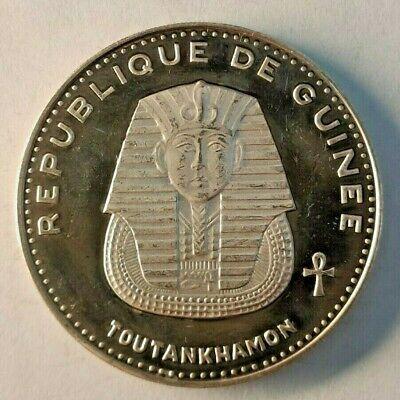 500 Francs Guinéens 1970 argent République Guinée GUINEA TOUTANKHAMON 28,45 gr