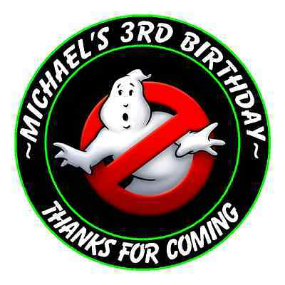 GHOST BUSTERS GHOSTBUSTERS BIRTHDAY ROUND PARTY STICKERS FAVORS ~ VARIOUS SIZES](Party Ghost)