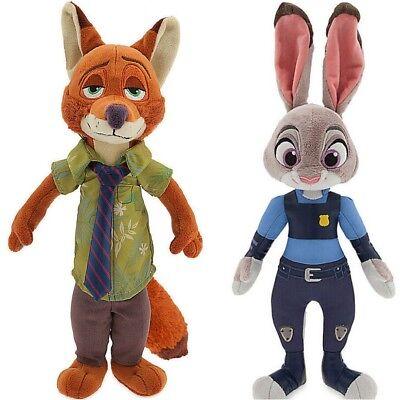 "Disney Cartoon Judy Hopps Nick Wilde Zootopia Movie Figures Soft Toy Plush 10"""