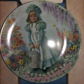 Mary, Mary' Decorative Plate MOTHER GOOSE Series by John McClelland. Reco Int.