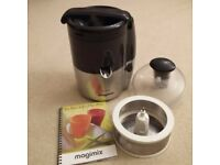 Magimix Le Duo Juicer & Citrus press . Black & Chrome.