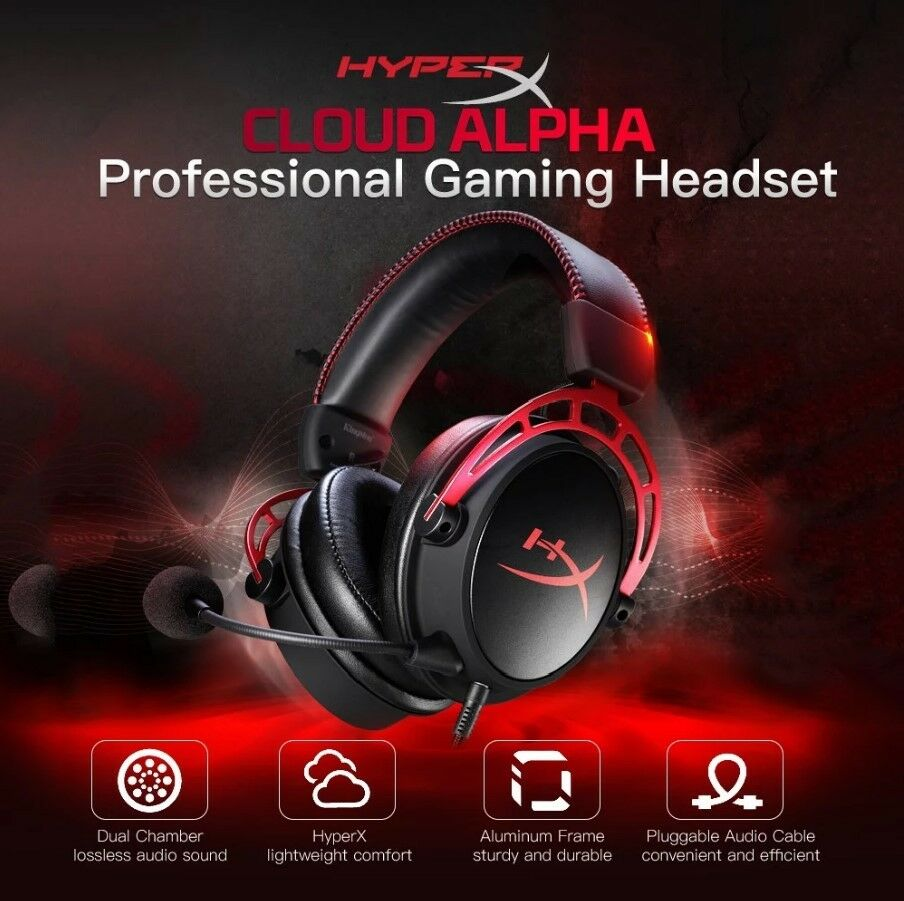 hyperx cloud alpha pro wired gaming headset