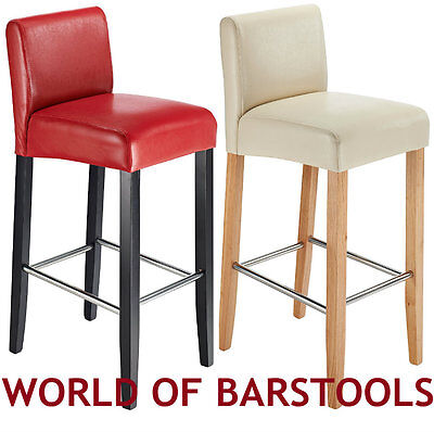 STEFFANO BREAKFAST BAR STOOL IN BLACK, RED, CREAM AND BROWN