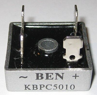 1000 Volt Bridge Rectifier - 50 Amp - 50 A - Metal Case - 1000v 50a Diode Bridge