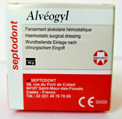 Septodont Alveogyl Paste 10gm Dry Socket Treatment Dental Alvogyl On Sale Usps