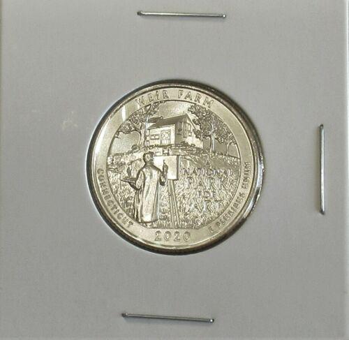 2020-W Weir Farm Uncirculated Quarter V75 Privy Mark  Great American Coin Hunt