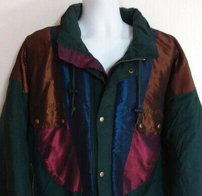 Vintage 80s 90s McGregor Shiny Colorblock Puffy Ski Jacket Coat Hood Mens 2XL