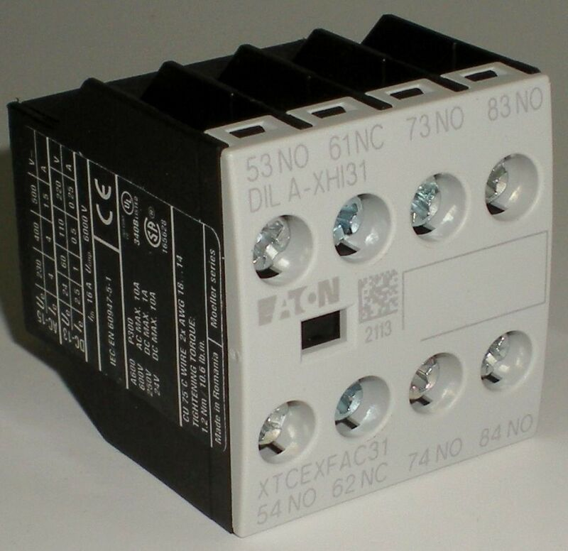 ELECTRICAL CONTACTOR EATON MOELLER DILA-XHI31 XTCEXFAC31 AUXILIARY CONTACT BLOCK