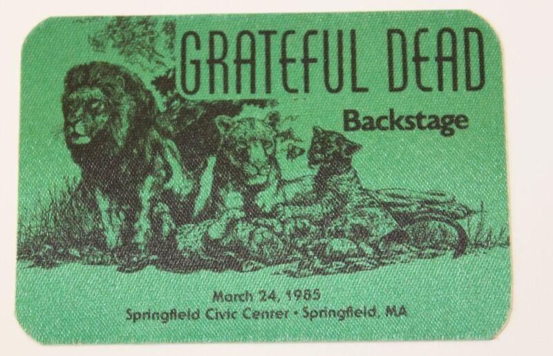 Grateful Dead Backstage Pass 3-24-1985 Springfield Civic Center ma