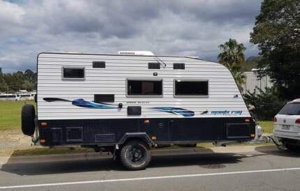 2017 New Age Manta Ray Deluxe 16ft caravan, with 3yr warrantee Tallai Gold Coast City Preview
