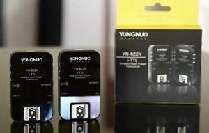 Yongnuo Remote Flash Triggers for Nikon (YN622n)  for pro flash!