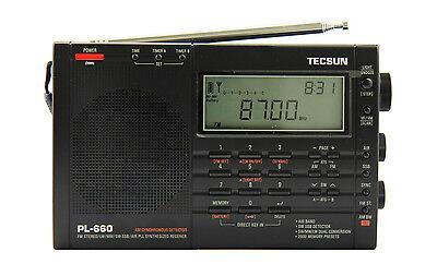 TECSUN PL660 PLL FM/Stereo MW LW SW SSB AIR Band << BLACK COLOR >>