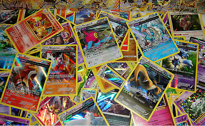 Pokemon TCG 100 Card Bulk Lot - GUARANTEED Common Uncommon Rares & Holos