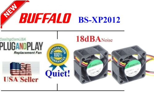 2x*Quiet* Replacement Fans for Buffalo BS-XP2012 Switch