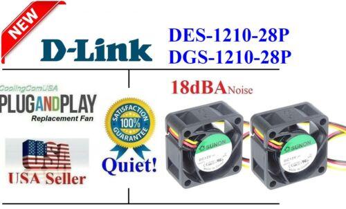 2x Quiet Version fans for D-Link DES-1210-28P DGS-1210-28P Sunon 12~18dBA Noise