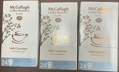 McCULLAH HOT CHOCOLATE MILK CHOCOLATE KEURIG K CUPS 24 Count X 3 BOXES