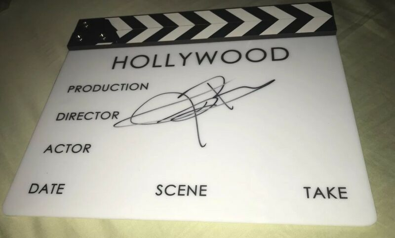 Jeremy Renner Signed Movie Clapboard Hawkeye Exact Proof